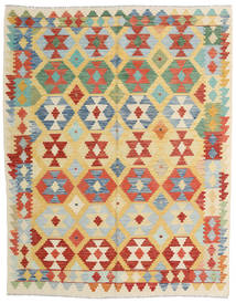 Kelim Afghan Old Style Teppe 159X201 Ekte Orientalsk Håndvevd Mørk Beige/Rød (Ull, Afghanistan)