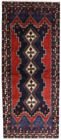 Afshar Teppe 96X230 Ekte Orientalsk Håndknyttet Teppeløpere Mørk Blå/Mørk Brun (Ull, Persia/Iran)