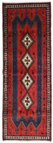 Afshar Teppe 91X255 Ekte Orientalsk Håndknyttet Teppeløpere Svart/Mørk Rød (Ull, Persia/Iran)