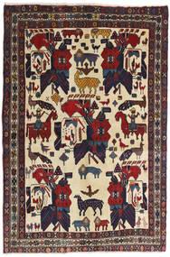 Afshar Teppe 126X188 Ekte Orientalsk Håndknyttet Mørk Grå/Mørk Rød (Ull, Persia/Iran)