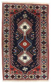 Yalameh Teppe 63X101 Ekte Orientalsk Håndknyttet Svart/Mørk Brun (Ull, Persia/Iran)