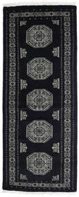 Pakistan Bokhara 3Ply Teppe 82X207 Ekte Orientalsk Håndknyttet Teppeløpere Mørk Grå (Ull, Pakistan)