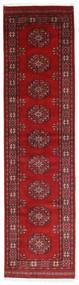 Pakistan Bokhara 3Ply Teppe 78X298 Ekte Orientalsk Håndknyttet Teppeløpere Mørk Rød/Rød (Ull, Pakistan)