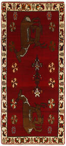 Ghashghai Teppe 85X183 Ekte Orientalsk Håndknyttet Teppeløpere Mørk Rød/Mørk Brun (Ull, Persia/Iran)