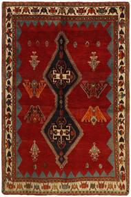 Ghashghai Teppe 160X238 Ekte Orientalsk Håndknyttet Mørk Rød/Mørk Brun (Ull, Persia/Iran)
