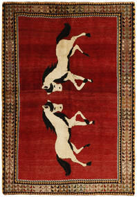 Ghashghai Teppe 160X230 Ekte Orientalsk Håndknyttet Mørk Rød/Mørk Brun (Ull, Persia/Iran)
