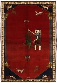 Ghashghai Teppe 192X283 Ekte Orientalsk Håndknyttet Mørk Rød/Rød (Ull, Persia/Iran)