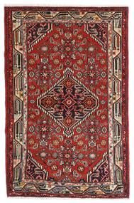 Asadabad Teppe 84X127 Ekte Orientalsk Håndknyttet Mørk Rød/Mørk Brun (Ull, Persia/Iran)