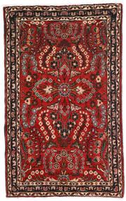 Lillian Teppe 80X128 Ekte Orientalsk Håndknyttet Mørk Brun/Mørk Rød (Ull, Persia/Iran)