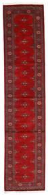 Pakistan Bokhara 3Ply Teppe 81X364 Ekte Orientalsk Håndknyttet Teppeløpere Mørk Rød/Rust (Ull, Pakistan)