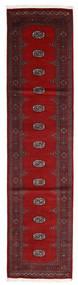 Pakistan Bokhara 2Ply Teppe 83X331 Ekte Orientalsk Håndknyttet Teppeløpere Mørk Rød/Rød (Ull, Pakistan)