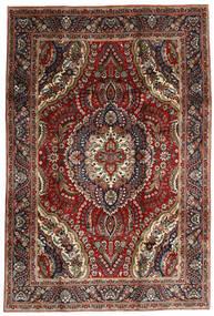 Tabriz Teppe 195X288 Ekte Orientalsk Håndknyttet Mørk Rød/Mørk Brun (Ull, Persia/Iran)