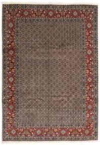 Moud Teppe 245X347 Ekte Orientalsk Håndknyttet Mørk Grå/Mørk Rød (Ull/Silke, Persia/Iran)