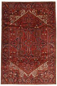 Heriz Teppe 228X344 Ekte Orientalsk Håndknyttet Mørk Rød/Mørk Brun (Ull, Persia/Iran)