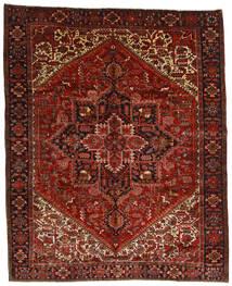 Heriz Teppe 314X386 Ekte Orientalsk Håndknyttet Mørk Rød/Mørk Brun Stort (Ull, Persia/Iran)