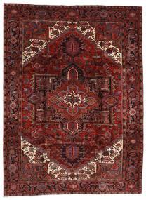 Heriz Teppe 210X282 Ekte Orientalsk Håndknyttet Mørk Rød (Ull, Persia/Iran)