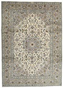 Keshan Teppe 259X358 Ekte Orientalsk Håndknyttet Lys Grå/Mørk Grå Stort (Ull, Persia/Iran)
