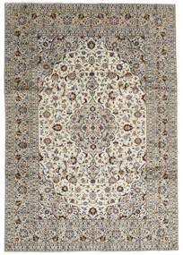 Keshan Teppe 246X352 Ekte Orientalsk Håndknyttet Lys Grå/Mørk Grå (Ull, Persia/Iran)