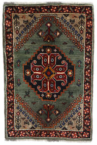 Ghashghai Teppe 61X92 Ekte Orientalsk Håndknyttet Mørk Brun/Mørk Rød/Mørk Grå (Ull, Persia/Iran)