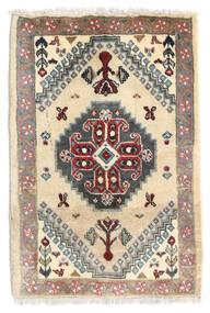 Ghashghai Teppe 59X87 Ekte Orientalsk Håndknyttet Beige/Mørk Brun (Ull, Persia/Iran)