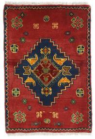 Ghashghai Teppe 58X85 Ekte Orientalsk Håndknyttet Mørk Rød/Rust (Ull, Persia/Iran)