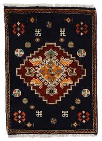 Ghashghai Teppe 61X84 Ekte Orientalsk Håndknyttet Svart/Mørk Brun (Ull, Persia/Iran)