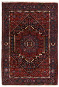 Gholtogh Teppe 104X152 Ekte Orientalsk Håndknyttet Mørk Rød (Ull, Persia/Iran)