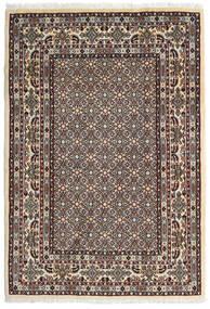 Moud Teppe 100X146 Ekte Orientalsk Håndknyttet Mørk Brun/Beige (Ull/Silke, Persia/Iran)