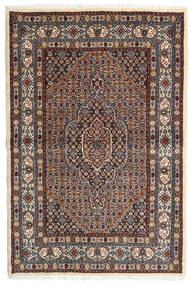 Moud Teppe 98X147 Ekte Orientalsk Håndknyttet Mørk Brun/Mørk Rød (Ull/Silke, Persia/Iran)
