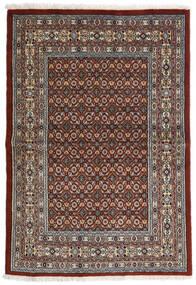 Moud Teppe 97X141 Ekte Orientalsk Håndknyttet Mørk Brun/Mørk Grå (Ull/Silke, Persia/Iran)