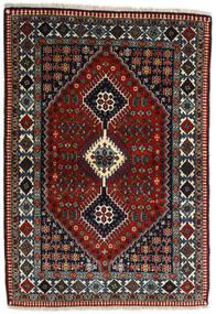 Yalameh Teppe 109X155 Ekte Orientalsk Håndknyttet Mørk Rød/Mørk Grå (Ull, Persia/Iran)