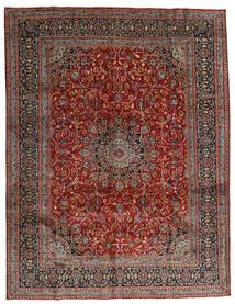 Mashad Teppe 297X383 Ekte Orientalsk Håndknyttet Mørk Rød/Mørk Grå Stort (Ull, Persia/Iran)