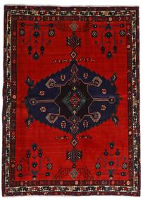 Afshar Teppe 164X225 Ekte Orientalsk Håndknyttet Svart/Rust/Mørk Rød (Ull, Persia/Iran)