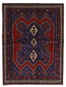 Afshar Teppe 175X232 Ekte Orientalsk Håndknyttet Mørk Blå/Mørk Rød (Ull, Persia/Iran)