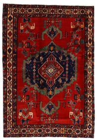 Afshar Teppe 169X243 Ekte Orientalsk Håndknyttet Mørk Rød/Rust (Ull, Persia/Iran)