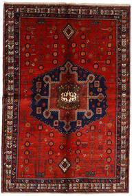 Afshar Teppe 158X232 Ekte Orientalsk Håndknyttet Mørk Rød/Rust (Ull, Persia/Iran)