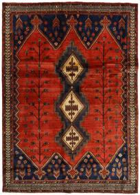 Afshar Teppe 176X248 Ekte Orientalsk Håndknyttet Mørk Brun/Rust (Ull, Persia/Iran)
