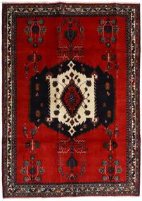 Afshar Teppe 188X261 Ekte Orientalsk Håndknyttet Svart/Rust/Mørk Rød (Ull, Persia/Iran)