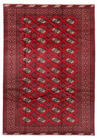 Turkaman Teppe 199X282 Ekte Orientalsk Håndknyttet Mørk Rød/Rød (Ull, Persia/Iran)