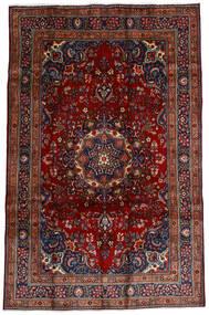 Mashad Teppe 191X290 Ekte Orientalsk Håndknyttet Mørk Rød/Mørk Brun (Ull, Persia/Iran)