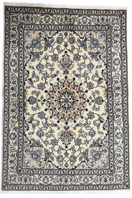 Nain Teppe 167X238 Ekte Orientalsk Håndknyttet Mørk Grå/Lys Grå (Ull, Persia/Iran)