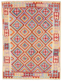 Kelim Afghan Old Style Teppe 179X240 Ekte Orientalsk Håndvevd Lyselilla/Lysbrun (Ull, Afghanistan)