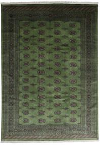 Pakistan Bokhara 2Ply Teppe 242X343 Ekte Orientalsk Håndknyttet Mørk Grønn (Ull, Pakistan)