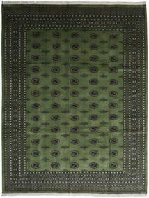 Pakistan Bokhara 2Ply Teppe 280X363 Ekte Orientalsk Håndknyttet Mørk Grønn/Mørk Grå Stort (Ull, Pakistan)