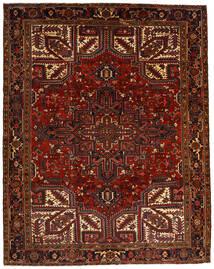 Heriz Teppe 257X322 Ekte Orientalsk Håndknyttet Mørk Rød/Mørk Brun Stort (Ull, Persia/Iran)