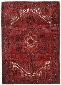 Heriz Teppe 205X291 Ekte Orientalsk Håndknyttet Mørk Rød/Mørk Brun (Ull, Persia/Iran)