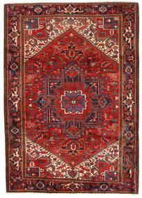 Heriz Teppe 243X330 Ekte Orientalsk Håndknyttet Mørk Rød/Rust (Ull, Persia/Iran)
