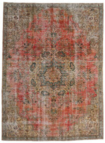 Vintage Heritage Teppe 230X310 Ekte Moderne Håndknyttet Brun/Lys Grå/Mørk Rød (Ull, Persia/Iran)