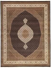 Tabriz Royal Teppe 300X395 Ekte Orientalsk Håndknyttet Brun/Mørk Brun Stort ( India)