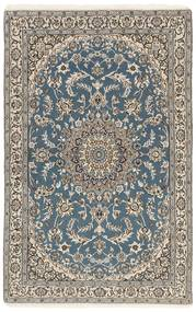 Nain 9La Teppe 116X180 Ekte Orientalsk Håndknyttet Lys Grå/Mørk Grå (Ull/Silke, Persia/Iran)